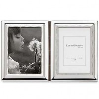 Reed & Barton Capri Silverplated Double Picture Frame - 2 x 3
