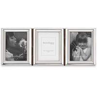 Reed & Barton Capri Silverplated Triple Picture Frame - 2 x 3