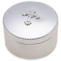 Reed & Barton Abbey Cross Keepsake Box - Round