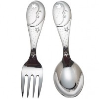Reed & Barton Sweet Dreams Baby Fork & Spoon Set