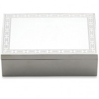 Reed & Barton Silver Link Engravable Treasure Box - White