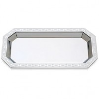 Reed & Barton Silver Link Engravable Vanity Tray - White