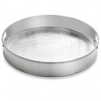 Reed & Barton Heritage Deep Hammered Round Serving Tray