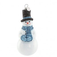 Reed & Barton Snowflurries Snowman Glass Ornament