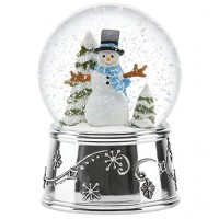 Reed & Barton Snowflurries Holiday Snowman Snowglobe