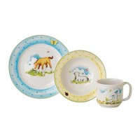 Reed & Barton Farmyard Friends 3-Piece Baby Gift Dinner Set
