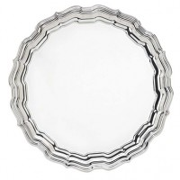 Reed & Barton Round Chippendale Tray - 14.5""