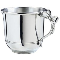 Salisbury Pewter Baby Cup with Bow Handle