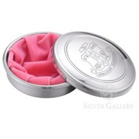 AKA Pewter Jewel Box with Pink Liner