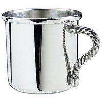 Salisbury Rope Handle Pewter Baby Cup