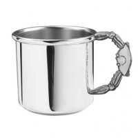 Salisbury Pewter Crab Handle Baby Cup - 5 oz