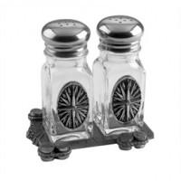 Salisbury Voyages Compass Salt & Pepper Shakers on Dock
