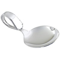 Web Sterling Virginia Sterling Silver Bent Baby Spoon - Personalize it at SilverGallery.com