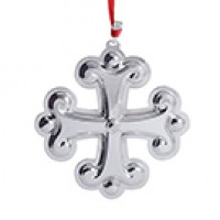Reed & Barton Sterling Silver Christmas Cross Ornament - 45th Edition