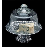 """Arthur Court Grape Footed Plate with Glass Dome - 8"""""""