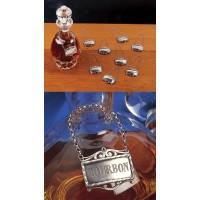 Salisbury Pewter Decanter Label - Bourbon
