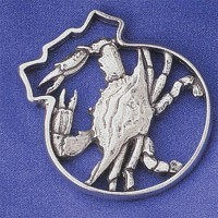Salisbury Pewter Blue Crab Ornament
