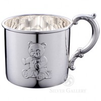 Empire Sterling Silver Teddy Bear Baby Cup