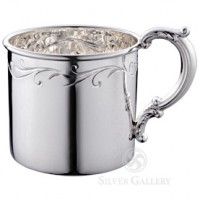Empire Sterling Silver Floral Baby Cup