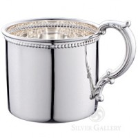 Empire Sterling Silver Classic Beaded Baby Cup