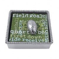 Mariposa Beaded Napkin Holder with Football Weight