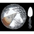 Arthur Court Grape Plate with Cheese Server - Available from SilverGallery.com