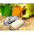Arthur Court Pig Butter Dish - Available from SilverGallery.com