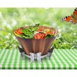 Arthur Court Butterfly Tall Wooden Salad Bowl - Available from SilverGallery.com
