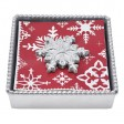 Mariposa Beaded Napkin Holder with Snowflake Weight
