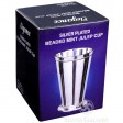 Small Beaded Silver Plated Mint Julep Cup Box