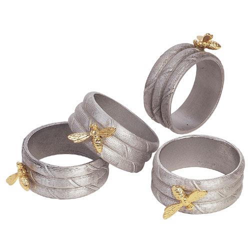 Boardmans Wedding Gift Registry: Salisbury Pewter Honey Bee Napkin Rings