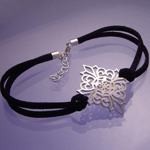 Sterling Silver Amp Leather Bracelet Elizabethan Knot Garden