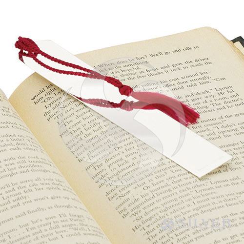 Empire Sterling Silver Plain Bookmark With Tassel