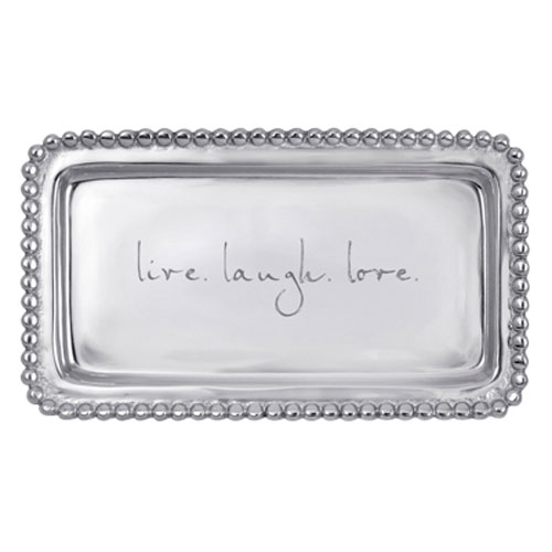 "Boardmans Wedding Gift Registry: Mariposa Statement Tray ""Live Love Laugh"""