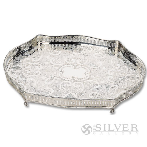 reed and barton footed oblong gallery tray