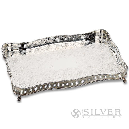 Boardmans Wedding Gift Registry: Reed And Barton Footed Rectangular Gallery Tray