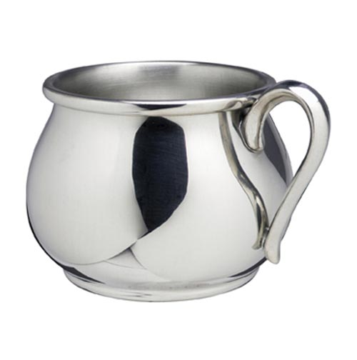 Salisbury Pewter Bulged Baby Cup Expertly Engraved