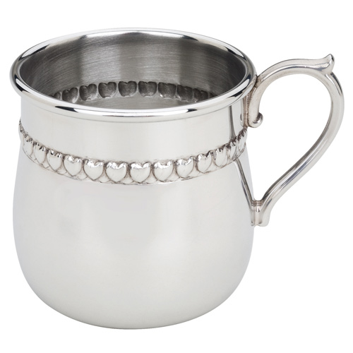 reed  u0026 barton baby hearts pewter baby cup