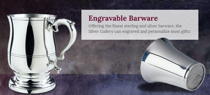 Engraved Silver Barware