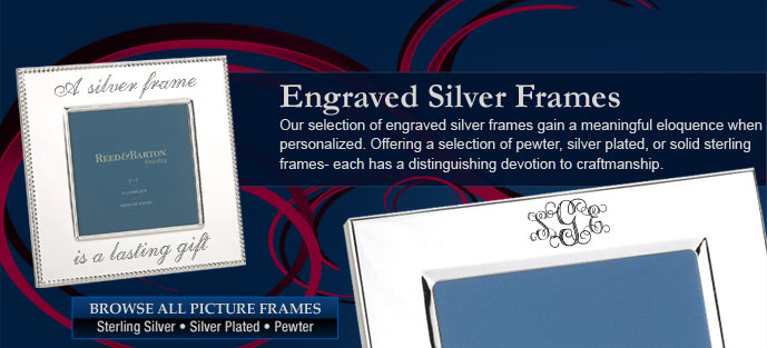 Engraved Silver Picture Frames